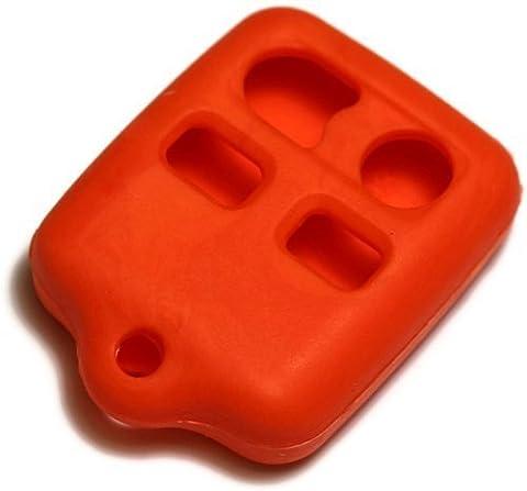 dantegts Orange Housse étui en silicone clé fob Télécommande Smart