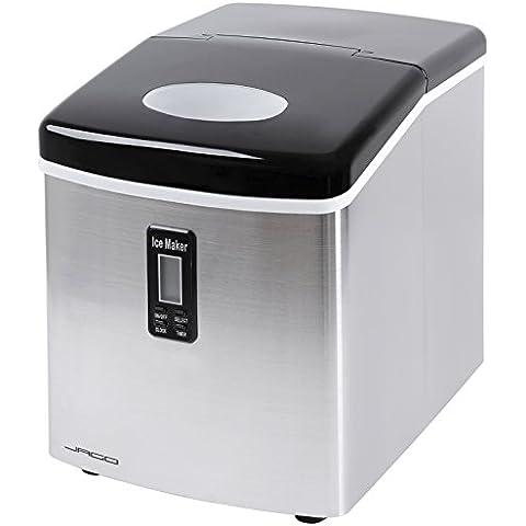 Jago - Máquina para hacer hielo con pantalla LCD y pala para los cubitos – volume aprox. 3,2