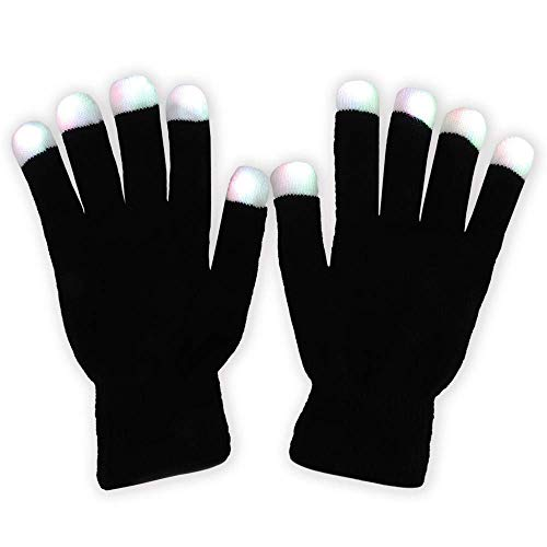 Light Finger Lighting Blitze Glow Mittens 3 Farben 6 Modes Light Up Toys neuheit ()