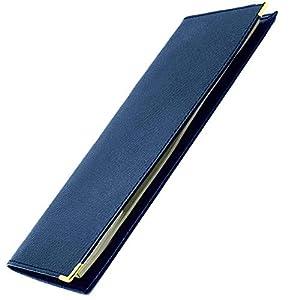 Livan L702 Scheckhefthalter, lang, Leder, klassisches Format, 23,5 x 10 cm