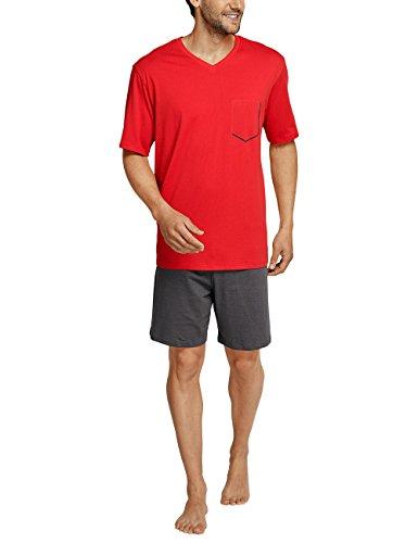 Schiesser Herren Zweiteiliger Schlafanzug Anzug Kurz Rot (Rot 500)