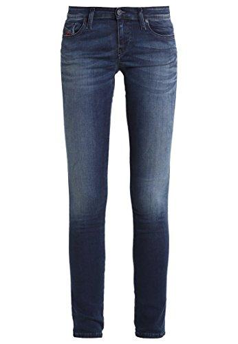 Diesel 00S54N, Jeans Attillati Donna, Nero, W26