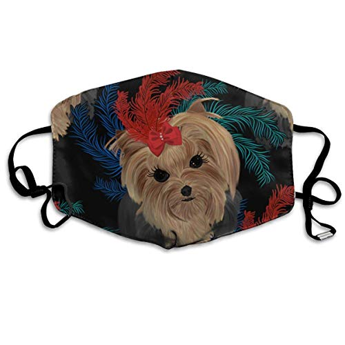 Masken, Masken für Erwachsene, Yorkie Tiny Feathers Reusable Anti Dust Face Mouth Cover Mask Protective Breath Healthy Safety