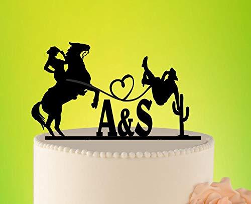 Tortenaufsatz Landhaushochzeit Kuchen Topper Cowboy Topper Shabby Chic Hochzeit Dekoration L2-02-006