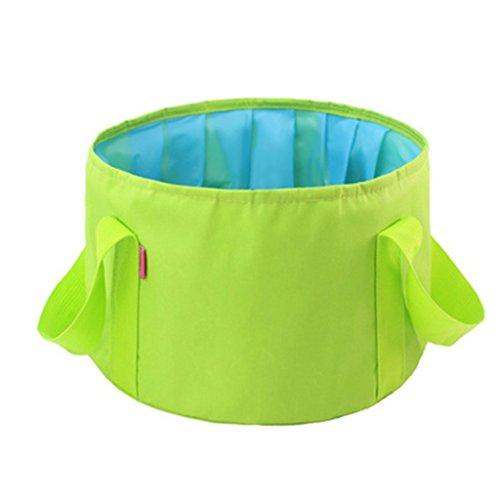 Lavabos de Salle de Bain Lavabo Pliant travelbucket Portable Pliant lavabo Voyage extérieur Bassin Bulle (Color : Yellow, Size : 29 * 13 cm)