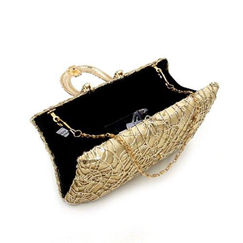Pochette Di Alta Qualità Borsa Da Sera Del Diamante Delle Donne Gold