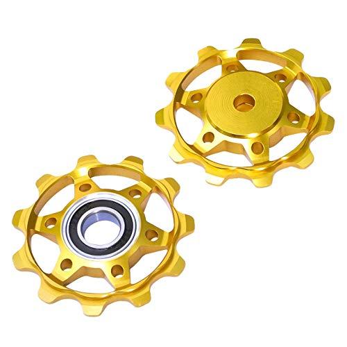 NC-17 Fahrrad Schaltrollen/Schaltwerk/Schalträdchen/Pulley/für Shimano/SRAM/Campagnolo Schaltwerkrollen, Gold, One Size