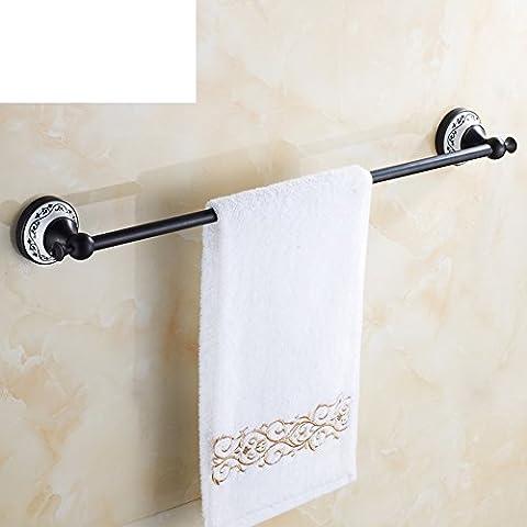 negra toallero bronce/Europea todo-cobre barra de toalla/Antiguo toallero de porcelana azul y blanca/