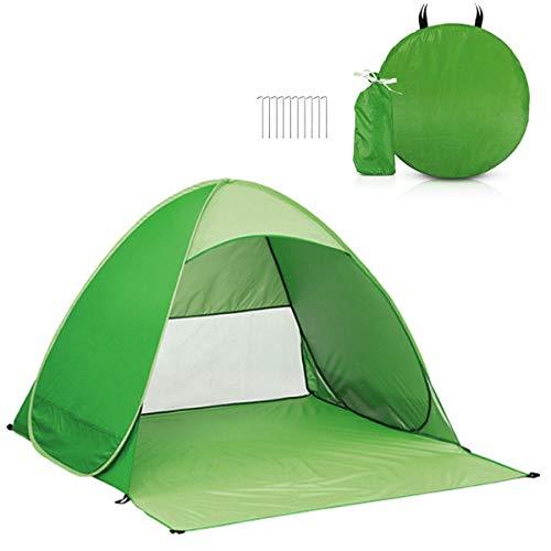 Pop-Up-Zelt,Camping Zelt Strandzelt,UV-Schutz Schutzfaktor 50 Sonnenschutz,165 x 150 x110 cm Extra Leicht Wurfzelt mitTragetasche und Zeltpflöcke für Outdoor, Angeln, Strand, Reise oder Garten (Grün)