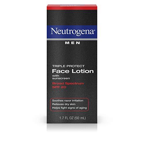 Neutrogena - Triple Protéger La Face Lotion Pour Les Hommes, Spf 20, 1,7 Once (Pack De 2)