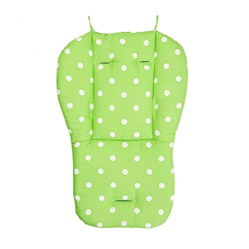 YeahiBaby Kinderwagen Sitzauflage Universal Wasserdichte Kinderwagen Einlage Weiche Kissen für Baby Punkt Muster (Grün)