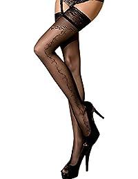 Unbekannt - Bas autofixants - Femme noir Schwarz