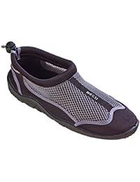Beco Chaussons de surf, d'eau, pour la plage, chaussures de baignade, pour femme et homme, gris/noir, taille 46