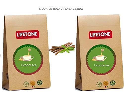 Pure Licorice Root Tea,Whole Herb,from Tropics,40 Teabags