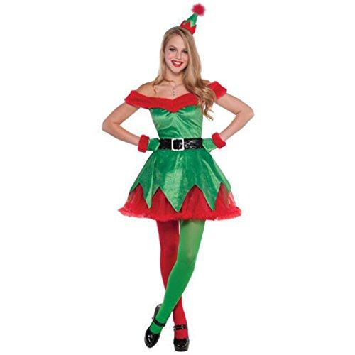 Weihnachtsbaum Sexy Kostüm - Marcus R Caveggf Frauen Sexy Weihnachtsmann KostüM Weihnachtsbaum Zeigen Kleidung GrüN Christmas Elf Weihnachten Anzug Spaß Weihnachten Anzug, XL
