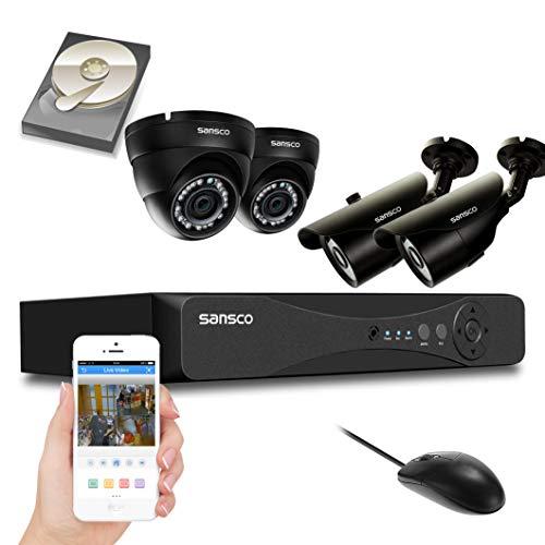 Kare® 4CH 720P Digital Video Recorder CCTV Sicherheit Kamera System mit 4× Outdoor/Indoor 720P 1.0MP HD IP Kamera (IP66Metall Gehäuse vandalensicheres, Hi Auflösung 720p HD, Superior Night Vision, E-Cloud) Zmodo Dvr