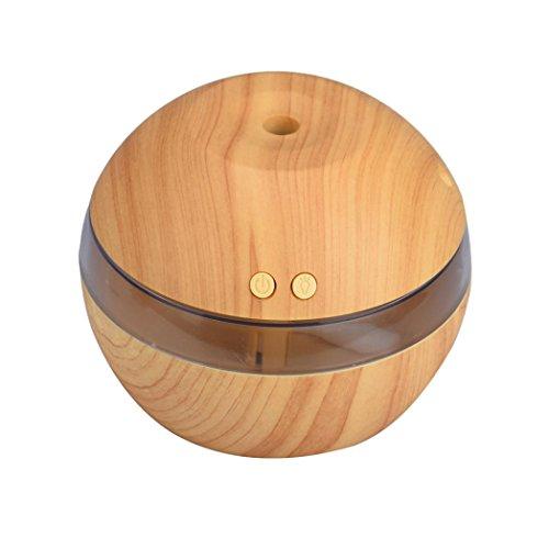 Bluestercool Humidificateur D'air Aroma Diffuseur Huile Essentielle LED Ultrasonic Aroma Aromatherapy Humidifier (Kaki)