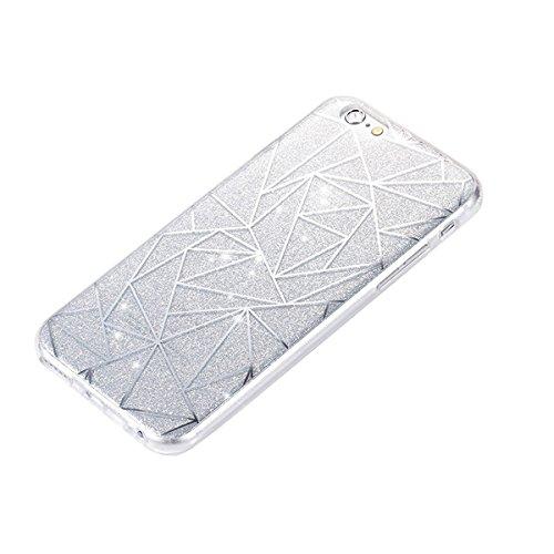 iPhone 7 Hülle Silikon,iPhone 7 Hülle Glitzer,iPhone 7 Crystal TPU Bumper Case Soft Transparent Silikon Gel Schutzhülle Cover,iPhone 7 Hülle (4.7 Zoll) Cristall,EMAXELERS iPhone 7 Bling Cristall Diama TPU 43