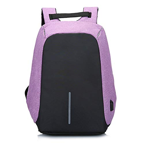 b79b950ac768 Qaloys Anti Theft Laptop Backpack Waterproof Back Zipper with USB Charging  Port Large Travel Bag