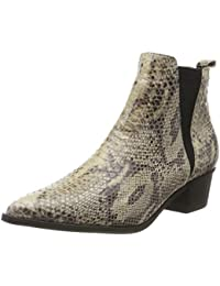 Pieces Pshara Leather Snake Boot, Botines Femme