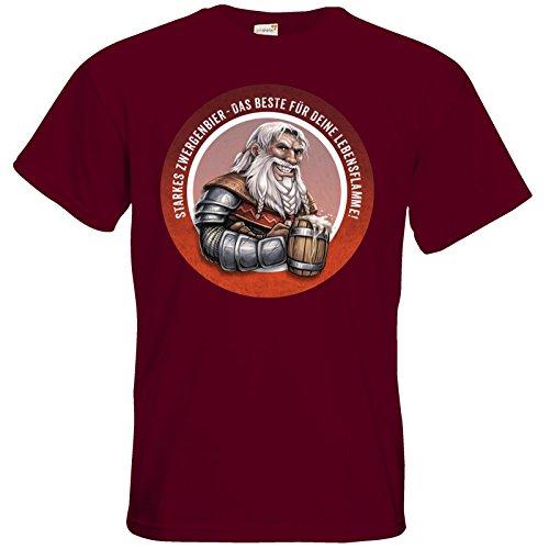 getshirts - Das Schwarze Auge - T-Shirt - Sprüche - Zwergenbier Burgundy