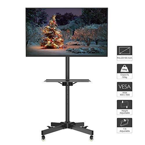 """1home Chariot Mobile d'affichage à la Maison de bâti de Support de Plancher de Chariot de TV pour 23""""- 55"""" Plasma/LCD/LED"""