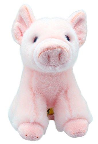 Lashuma Plüschtier Schwein | Bauernhof Kuscheltier | Stofftier sitzend ca. 15 cm