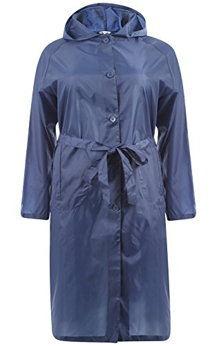 Hari Deals Damen Trenchcoat Regenjacke Navy