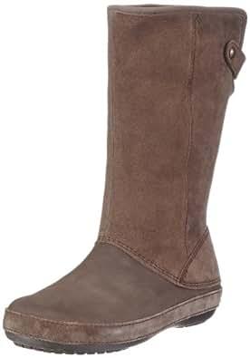 Crocs Berryessa Tall Suede Boot, Damen Schlupfstiefel, Braun (Espresso/Espresso 22Z), 34/35 EU