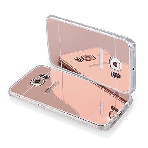 Spiegel Handy Silikon Hülle TPU Back Case Schutzhülle transparent pink für