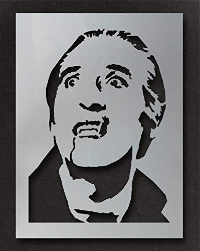 Dracula Christopher Lee Schablone Malen und Personalisieren Ihr Halloween Projekte mit Diesem Wiederverwendbare Schablone Heim Dekoration Kunst Handwerk Ideal Stencils ... - L/ 37X51CM