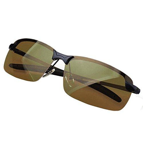 Swifft Nachtsichtbrille Polarisiert Nachtsicht Brille Sonnenbrille Gelbe Linse Anti-Glanz Fahren Brillen Kontrast-Brille Nachtfahrbrille für Damen und Herren (Schwarz)