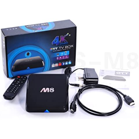 M8 Amlogic S802 Quad Core Android 4.4 Smart Set Top TV Box XBMC 3D Blu-ray 4K Streaming Media Player AML8726-M8 Cortex A9@ 2GHz 2GB Ram 8GB Rom 4K HDMI XBMC Media Player 2.4G/5G Dual Band WiFi