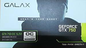 GALAX GeForce GTX750-2GB DDR5 OC SLIM 128Bit w/VGA/DVI-D/HDMI (Low Profile Compatible)