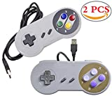 Liuer 2PCS USB SNES Gamepad/Controller Retro für PC Windows(Windows XP/7/8/10) Mac Raspberry Pi C64 Mini retropie gamepad NES/SNES Emulator