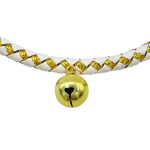 Weihnachten glückliches Geschenk Hundehalsband Halskette mit Glöckchen für Kleine Hunde Welpen Katzen Silberfarbe S - 6