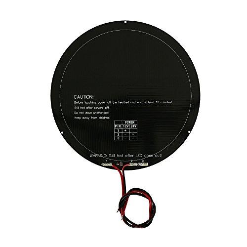 Anycubic 240mm 3D Drucker Rund Aluminium Heatbed mit Kabel für MK3 Delta Rostock Hot Plate Rostock Delta