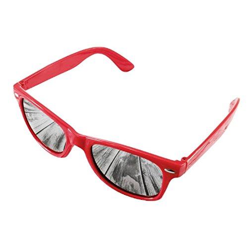 4sold Damen Sonnenbrille schwarz schwarz Universal schwarz mirror red Universal