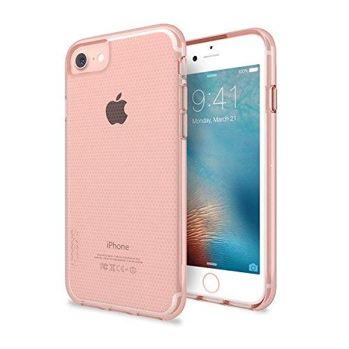 ülle für Apple iPhone 8 / 7 / 6S / 6 in transparent/rose gold [Ultra robust | 2m Sturzfest | Waben-Struktur | Erhöhte Displaykante | Schockabsorbierend] - SK28-MTX-RGLD ()