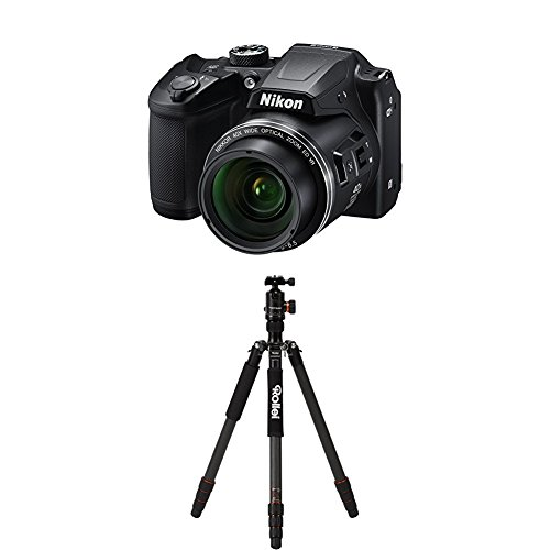 Nikon Coolpix B500 Kamera schwarz+Rollei C6i Carbon Black