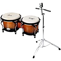 Set de XDrum Bongo Pro Vintage color tostado (incl. soporte)
