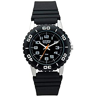 Adora Young Line Watch with Black Dial Analogue Display Wrist Watch Sport Watch For Children Made of Aluminium With Plastic 29404, variant: 03