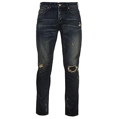 Firetrap Mens Blackseal Vintage Jeans Distressed Trousers Casual Pants Bottoms