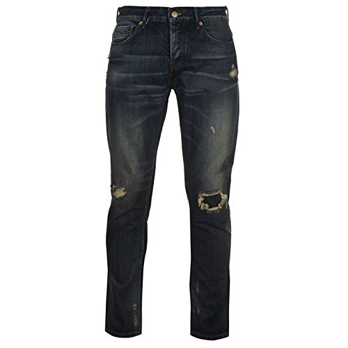 Firetrap Blackseal Herren Vintage Jeans Denim Hose Freizeit Jeanshose Used Look Vintage Slim