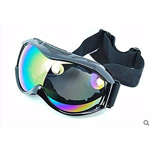 ZHGI Outdoor sport arrampicata occhiali da sci goggle wind-prova double anti-nebbia occhiali a specchio tattico,B