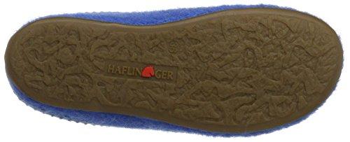 Haflinger Unisex-Erwachsene Everest Classic Pantoffeln Blau (Azur)