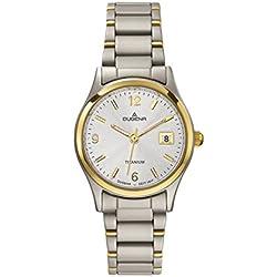Dugena Damen-Armbanduhr XS Analog Quarz Titan 4460333