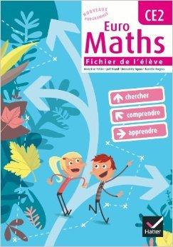 Euro Maths CE2 éd. 2010 - Fichier de l'élève + Aide-mémoire de Marie-Lise Peltier,Joël Briand,Bernadette Ngono ( 28 avril 2010 )