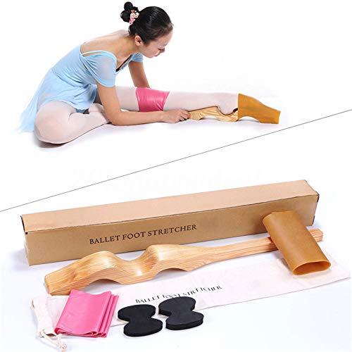 SKIESOAR Fußdehner, Abnehmbarer Ballett-Stretcher, Ballett-Stretcher, Fuß-Stretcher für Tanz, Gymnastik, mit elastischem Band