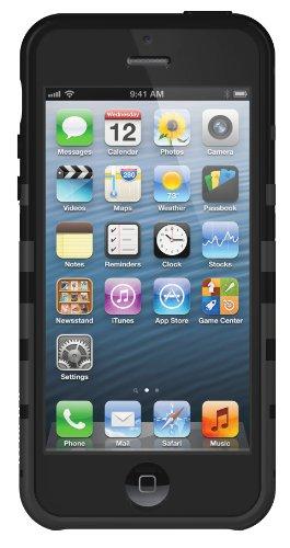 XtremeMac IPP-TWN-13 Tuffwrap Licorice Silikon-Schutzhülle für Apple iPhone 5 schwarz Schwarz